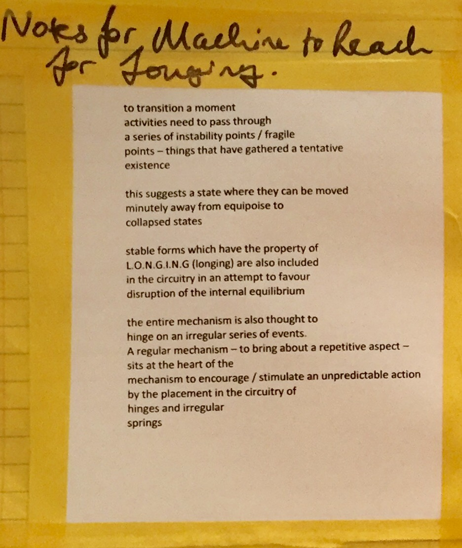 notes for longing machine