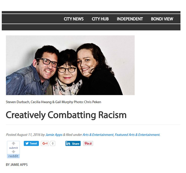 160811 creatively combatting racism - cityhub