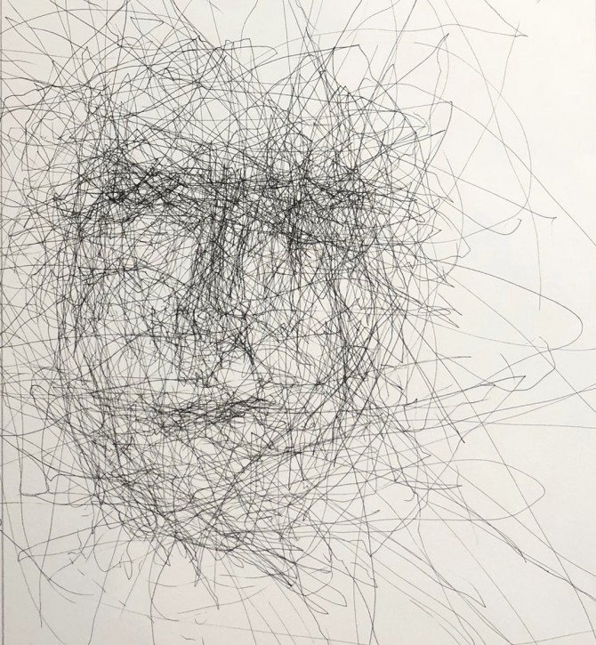 chaotic self portrait 1